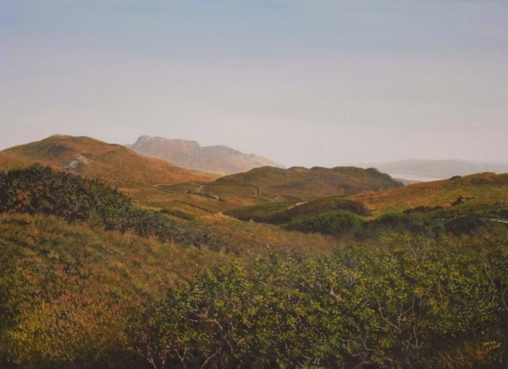 Rodger Insh, 'Ben Hiant from the West', 2015. Gouache. ©Rodger Insh