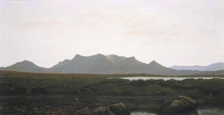 Rodger Insh, 'Ben Loyal (Panorama)', 2014. 40.4 x 20.7 cm, gouache. ©Rodger Insh