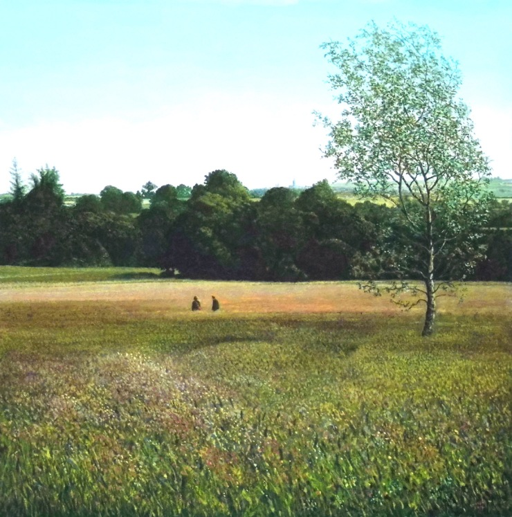 Rodger Insh, 'Montrose from Langley Meadow', 2014. 28 x 28.1 cm, gouache. ©Rodger Insh