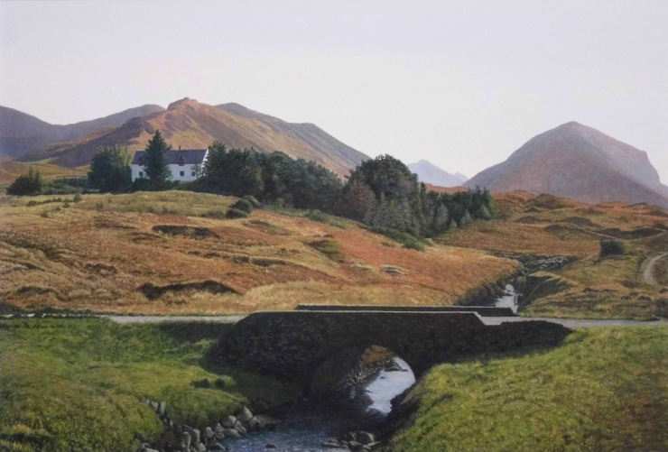 Rodger Insh, 'Skye Bridge, Marsco', 2014. 38 x 25.7 cm, gouache. ©Rodger Insh