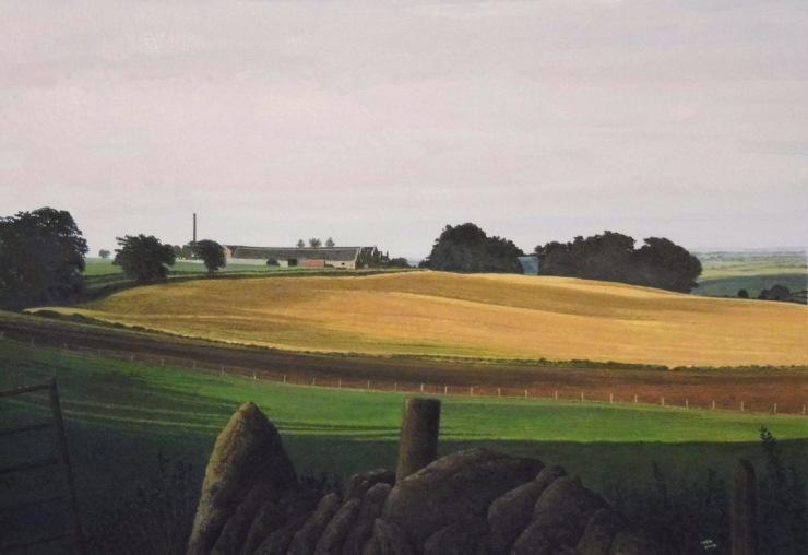 Rodger Insh, 'Towards Newseat of Tolquhon', 2014. 37.5 x 25.6 cm, gouache. ©Rodger Insh