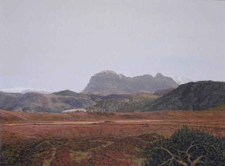Rodger Insh, 'Wintry Suilven', 2014. 32.7 x 24.3 cm, gouache. ©Rodger Insh